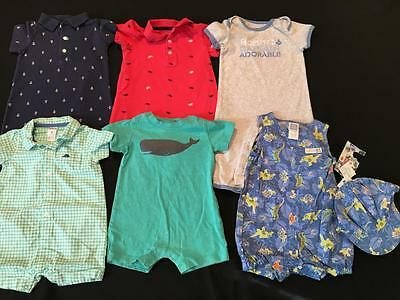 Boys 9 Months Carter's Spring Summer One Piece Outfit Romper Clothes Lot B57
