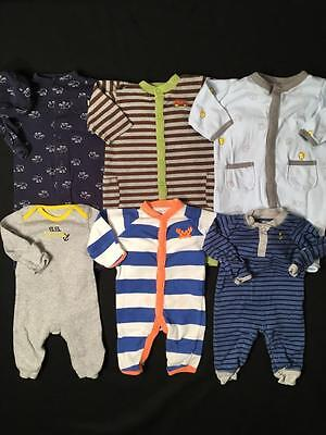 Baby Boy Newborn 0/3 3 Months Carters Rompers Outfits Clothes Lot B89