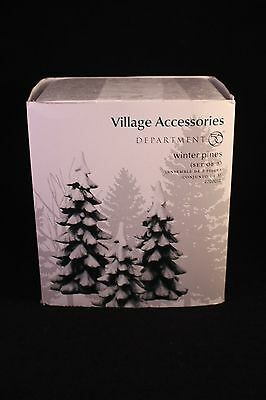 New Department 56 Village Winter Pines set of 3 in Original Box - 4020261