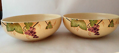 """Mikasa CW409 Chablis Pair of 7"""" Coupe Shape Cereal / Soup Bowls"""