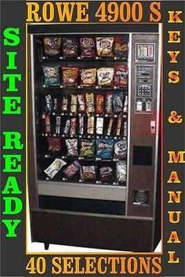 Rowe 4900S Snack Vending Machine with Coinco Coin and Bill Acceptor Validator