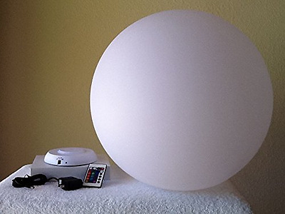 50cm Waterproof Rechargeable LED Globe Ball Round Sphere Light for Pool Patio &
