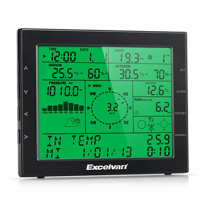 Excelvan Professional Wireless Weather Station with Internet Upload Plus UV and