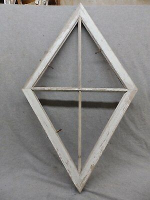 Antique 4 Lite Diamond Kite Window Shabby Vintage Chic Old Cottage 266-17R