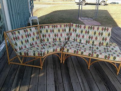 1950's ASHCRAFT Mid Century Modern HEYWOOD WAKEFIELD 2 Pc Sectional Couch