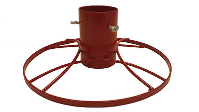 Bosmere 5-inch Contemporary Christmas Tree Stand with Red Sparkle