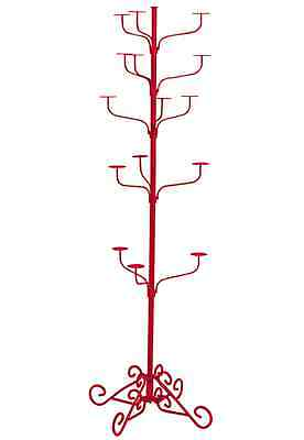 Hat Display Rack Boutique 5-Tier Millinery Floor Stand Custom Fine Textured Red
