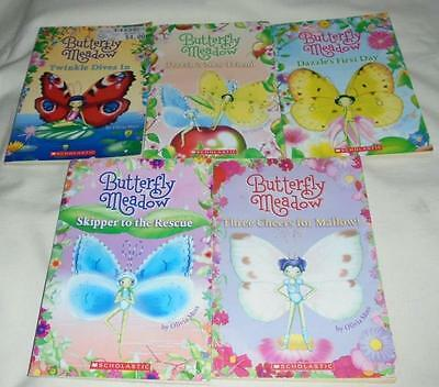 Set of 5 Butterfly Meadow series books by Olivia Moss #1-5