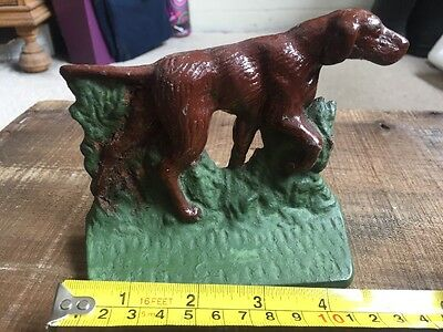 Vintage POINTER HUNTING DOG Cast BOOK END heavy BIRD DOG Retriever