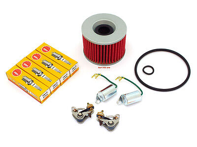Tune Up Kit - 1969 - 1978 Honda CB750 - Oil Filter D8EA Spark Plugs Points