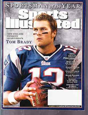 December 12, 2005 Tom Brady New England Patriots Sports Illustrated NO LABEL WB