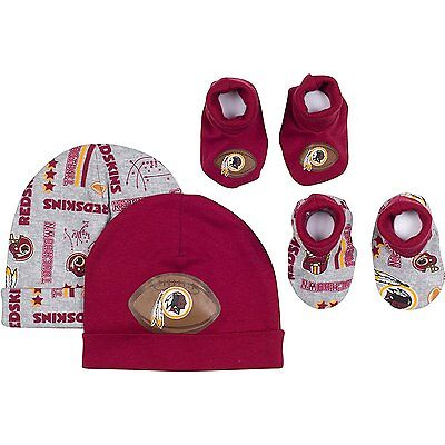 Gerber NFL Washington Redskins Baby Caps and Booties Set, 0-6 Months