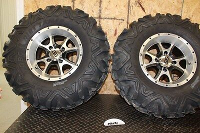 "2008 Yamaha Grizzly 700 4x4 12"" ITP SS Rear Wheels Dirt Tamer Tires 26x10x12"