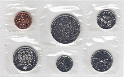 1971 Canada Proof-Like Coin Set By Royal Canadian Mint