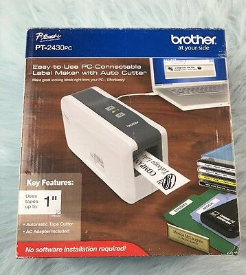 NEW IN BOX! Brother P-Touch PT-2430PC Label Thermal Printer