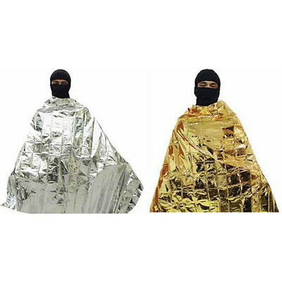 160*210 Outdoor Silver&Gold Double-faced Rescue Space Thermal Emergency Blanket