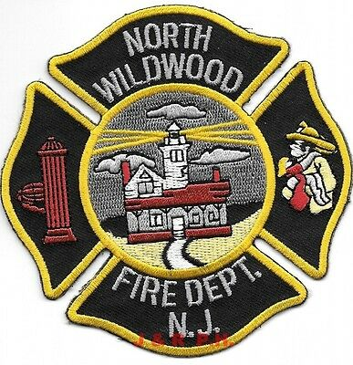 """North Wildwood  Fire Dept., New Jersey (4"""" x 4"""" size) fire patch"""