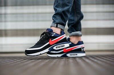 006d4cc368 Nike Air Max BW Premium Olympic Men's Shoes 819523-064 Black Red Blue NEW