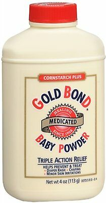 Gold Bond Cornstarch Plus Baby Powder - 4 Oz Pack of 3