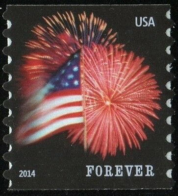 2014 49c Star-Spangled Banner, Fireworks, Coil Single Scott 4853 Mint F/VF NH