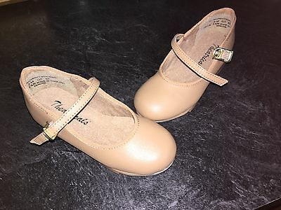 Theatricals Girls Youth Size 7 Tan/Light Brown Tap Shoes Inch Heels