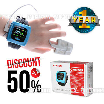 FDA/CE CMS50F Wrist Pulse Oximeter,65k Color OLED display,include free probes