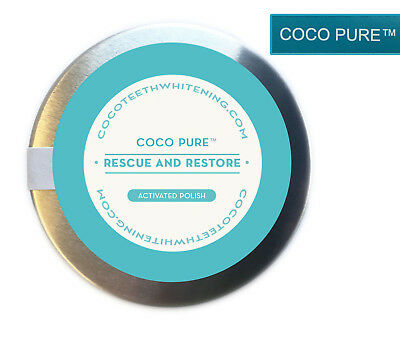 Coco Pure™ Whitening Tooth Powder Activated Coconut Charcoal UK MADE 20grams**