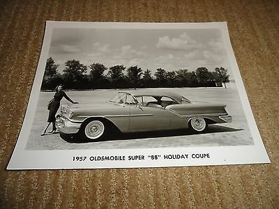 1957 Oldsmobile Super 88 Holiday Coupe Press Release Photo Only Original