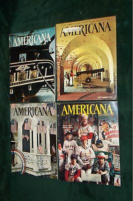 Americana Magazine Lot Of Vintage Issues 1974-5-6-8 Bicentennial Issue