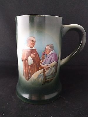 Antique Friar and Bishop beer mug