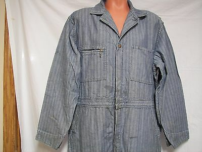 Lee Union All Railroad Coverall Herringbone Size 48 Farm Mechanics Work USA