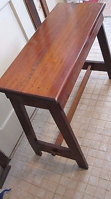 Vintage / Antique Solid Wood Organ Bench-Weaving Loom Bench Angled
