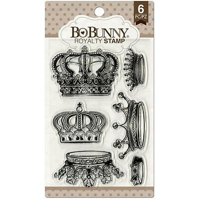 STAMPENDOUS Clear Stamps VINTAGE CROWNS  Journaling Box Royalty