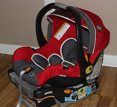 Chicco Keyfit 30 Infant Car Seat And Base With Newborn Inserts Red Exp. 10-2020