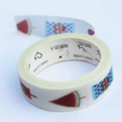 Ice Lolly Decorative Washi Paper Tape 7m x 15mm wide - Craft