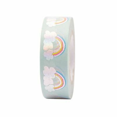 Rainbow and Clouds Washi Masking Paper Tape - 10m Craft