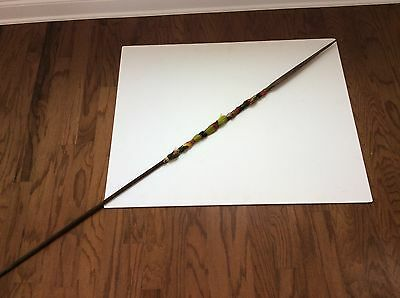 Nice Old Antique South American Amazon Tribal Wooden Spear With Nice Decorations