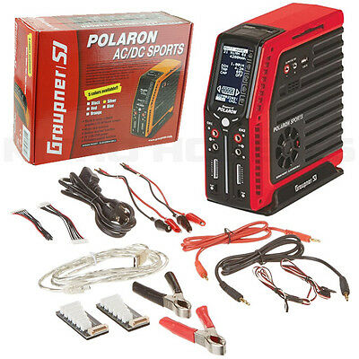 Graupner S2004 Polaron Sports AC/DC Dual Output Charger Red LiPo LiFe Li-Ion