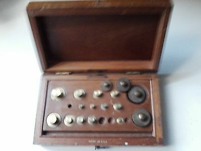 Frederick Stearns & Co. Antique Set Apothecary Balance Weights