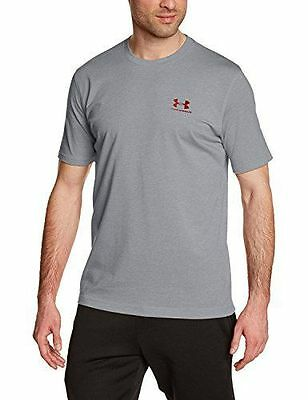 Under Armour Mens Charged Cotton Left Chest Lockup Training Gym Fitness T Shirt