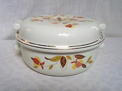 Hall Autumn Leaf 2 Qt Radiance Covered Casserole Orange Yellow Brown Fall