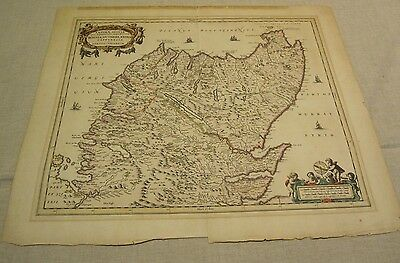 Jan Jansson Original Antique Map of Northern Scotland
