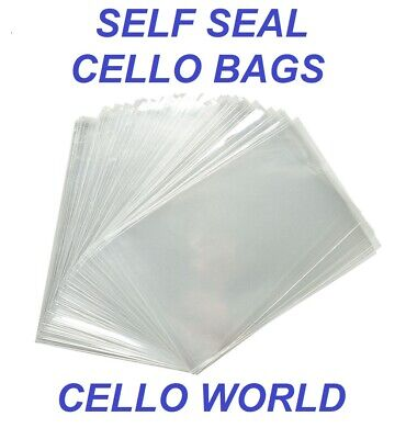 Cello Display Bags - Crystal Clear Self Seal Cellophane Bags For Cards & Crafts