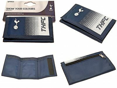 Tottenham Hotspur Fc Nylon Club Crested Spurs Money Wallet Cash Credit Card Thfc