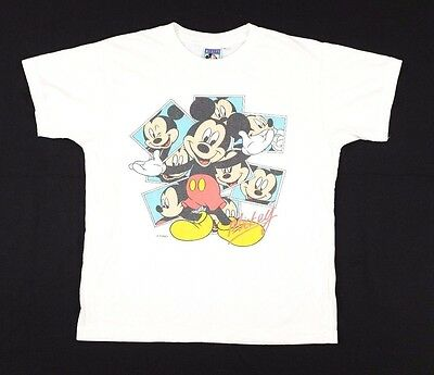 Vtg 1990s Mickey Mouse T-Shirt Youth XL walt disney pictures photos