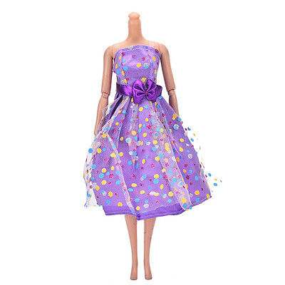 Fashion Doll Dress Beautiful Party Clothes Top Fashion Dress For Barbie Doll JR