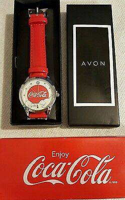 Avon Coca Cola polar bear watch New in box 2016 NIB