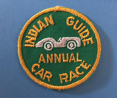 Vintage 1960's YMCA Adventure Indian Guides Annual Car Race Badge Patch Crest A