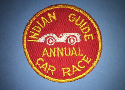 Vintage 1960's YMCA Adventure Indian Guides Annual Car Race Badge Patch Crest B
