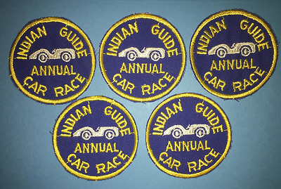 5 Lot Vintage 1960's YMCA Adventure Indian Guides Annual Car Race Patches C